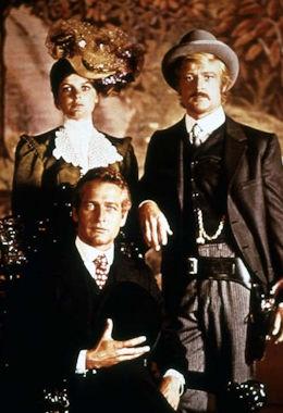 Katharine Ross, Robert Redford et Paul Newman